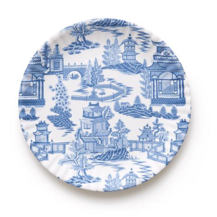 "Chinoiserie Melamine ""Paper"" Plates"