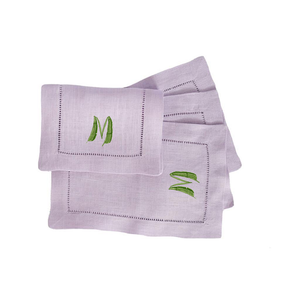 Purple Palm Cocktail Napkins