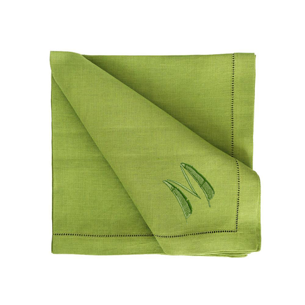 Palm Dinner Napkin in Green