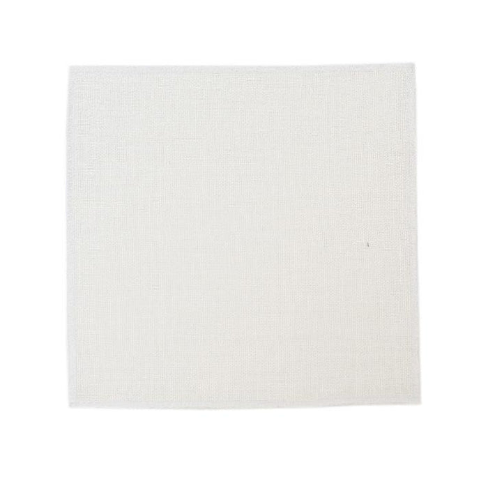 Duet Cocktail Napkins - White / White