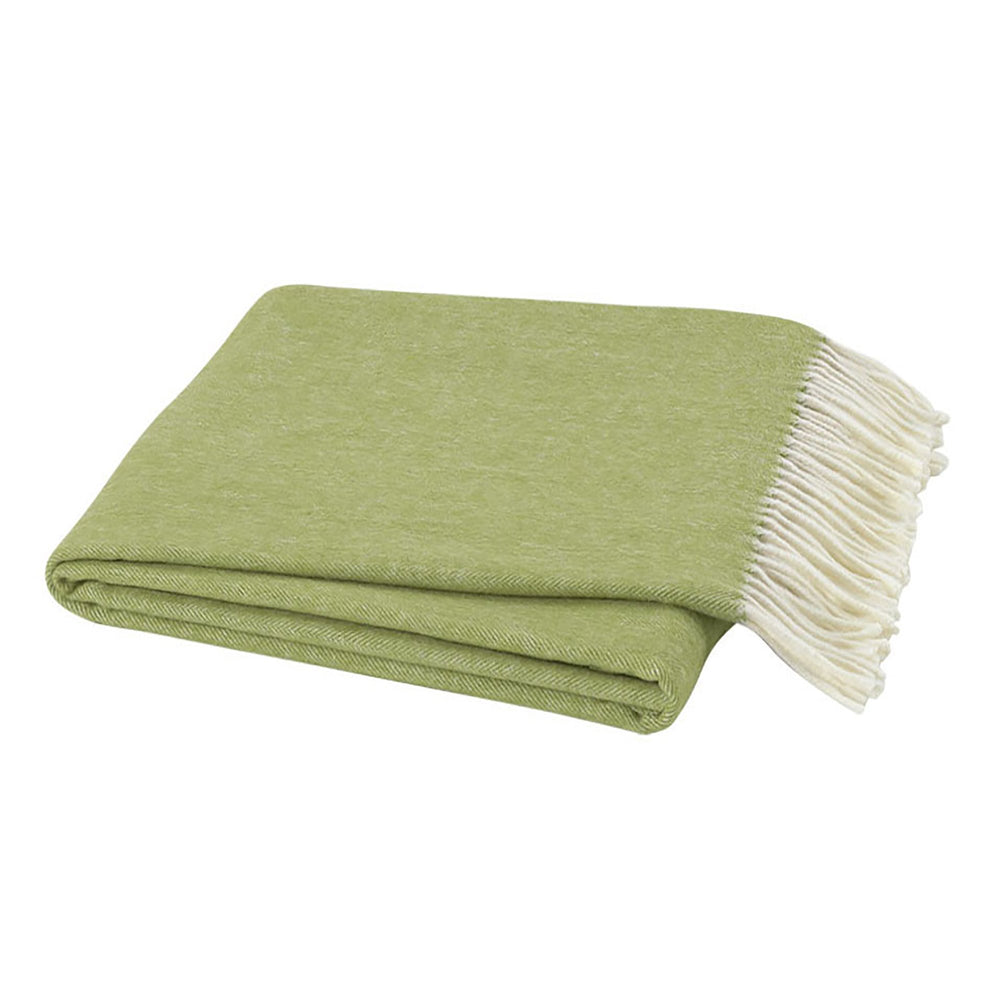 Italian Herringbone Throw - Lemongrass