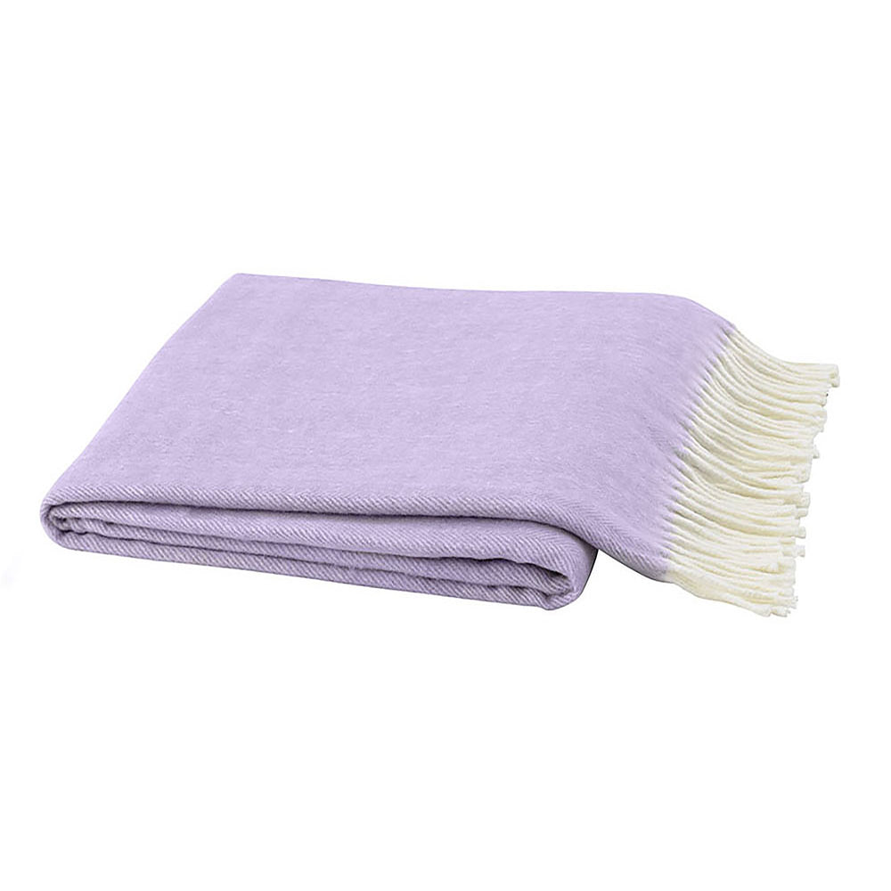 Italian Herringbone Throw - Lilac