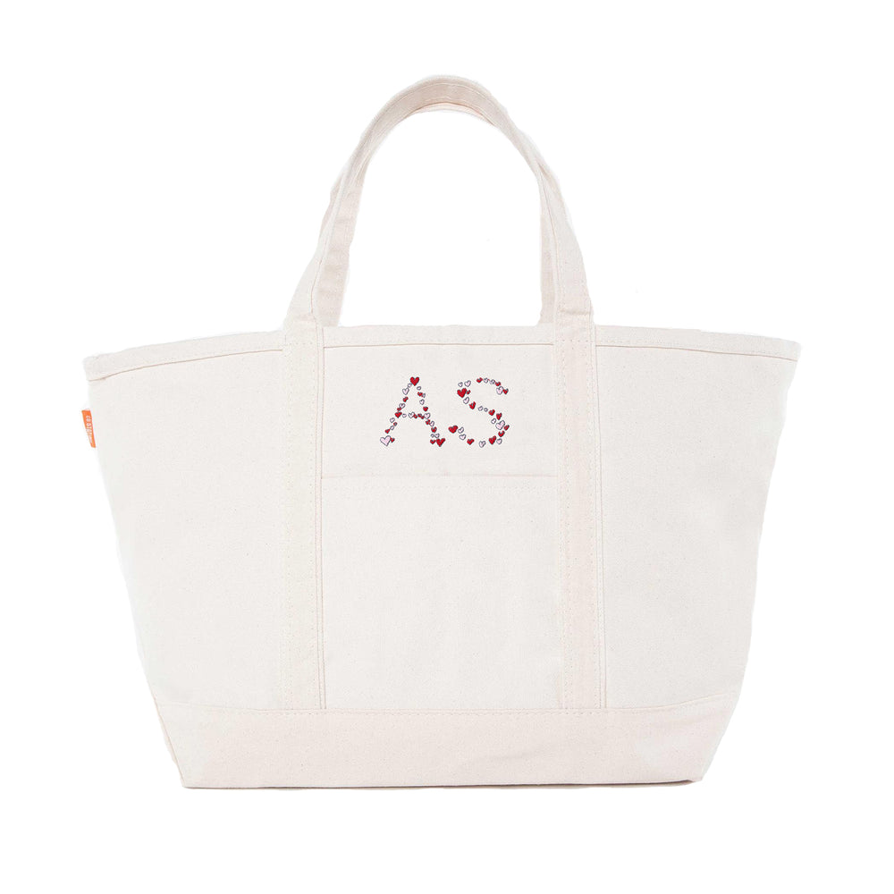 Canvas Heart Tote