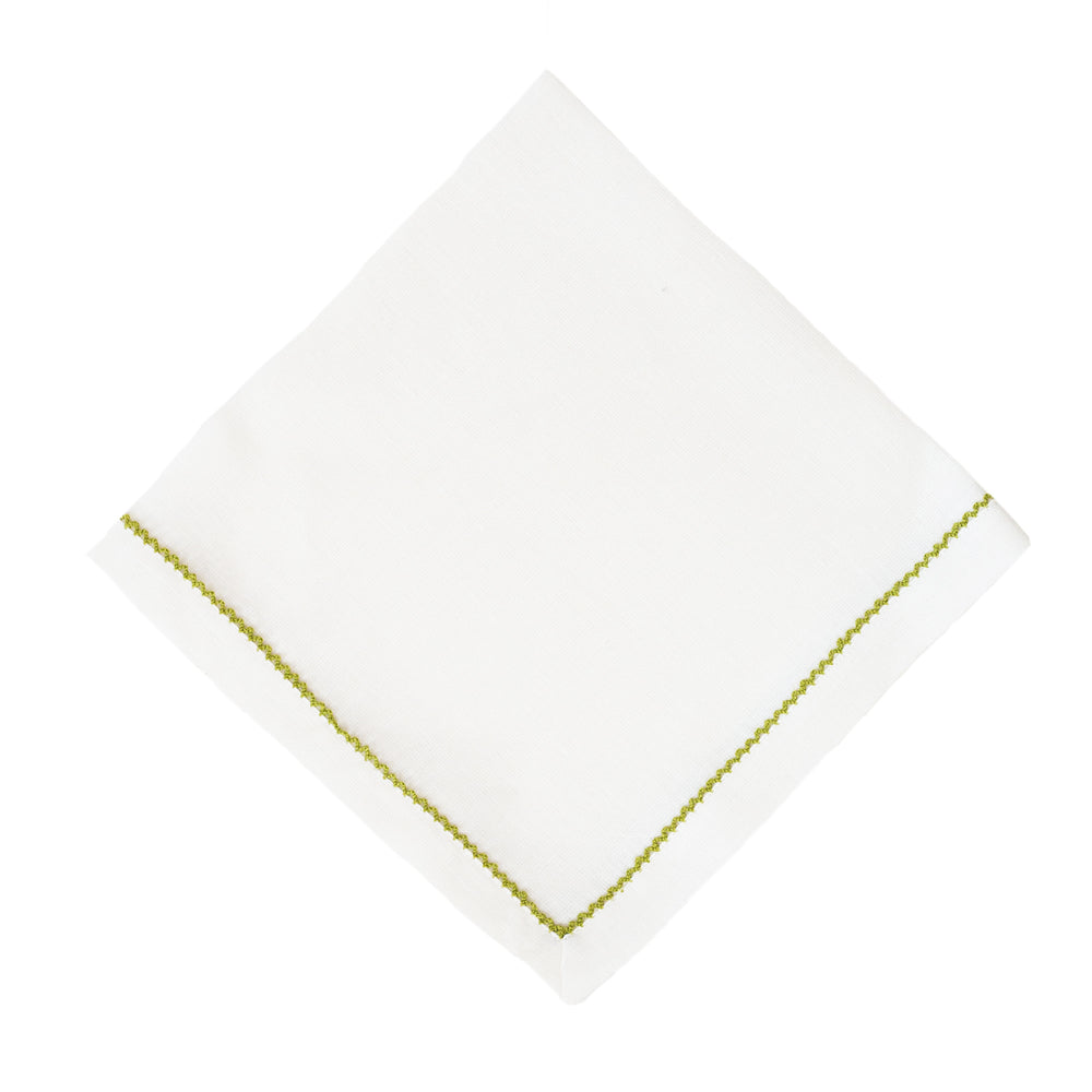 Avocado Green Trim Napkin