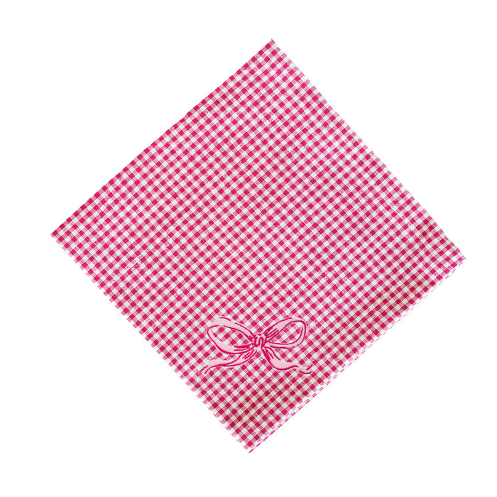 Gingham Bow Napkins