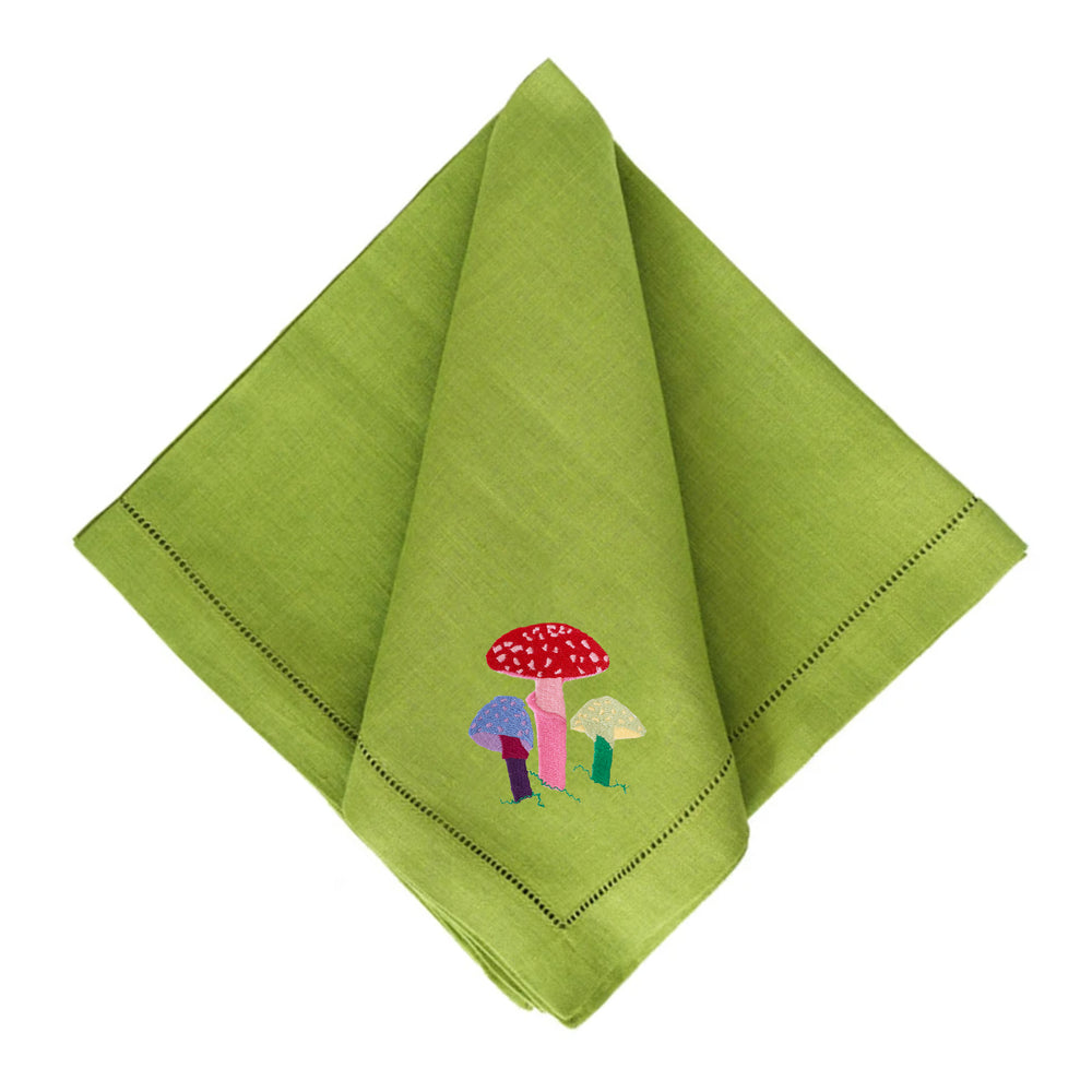 Magic mushroom Grass Green Dinner Napkin