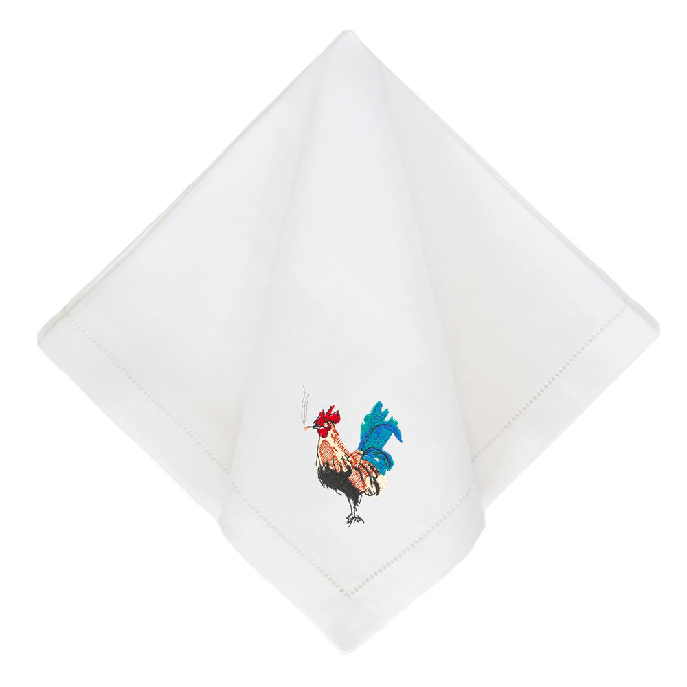 Party Animal Rooster Dinner Napkin