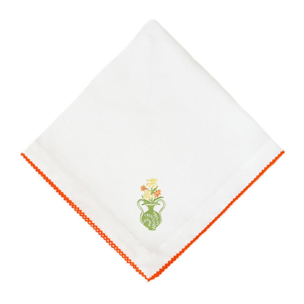 Daffodil on Pico Edge Dinner Napkin