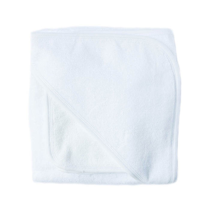 Hooded Towel & Wash Cloth Set - White