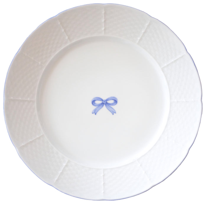 Basket Weave Dinner Plate - Bow