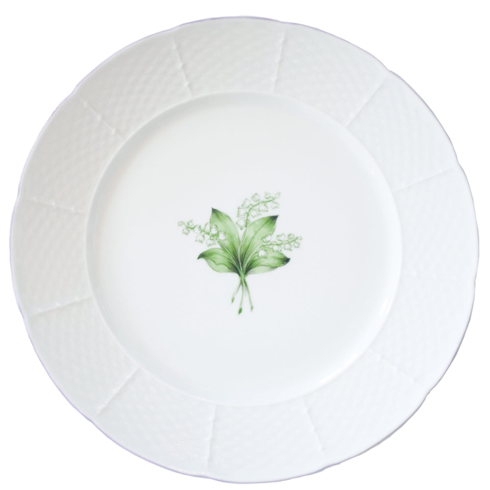 Basket Weave Dinner Plate - Lily of the Valley