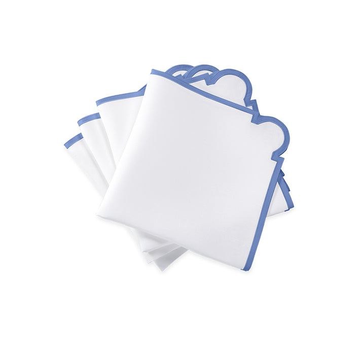 Mirasol Dinner Napkins - White & Azure