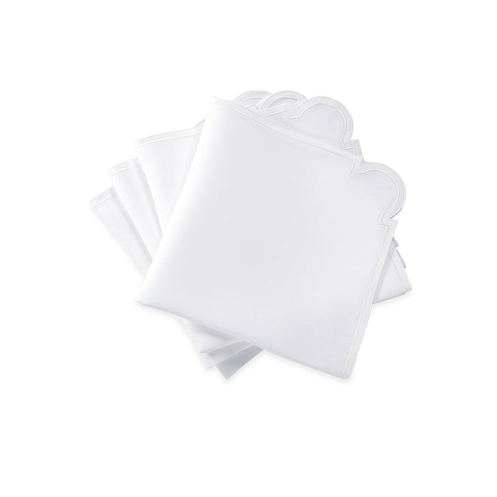 Mirasol Dinner Napkins - White & White