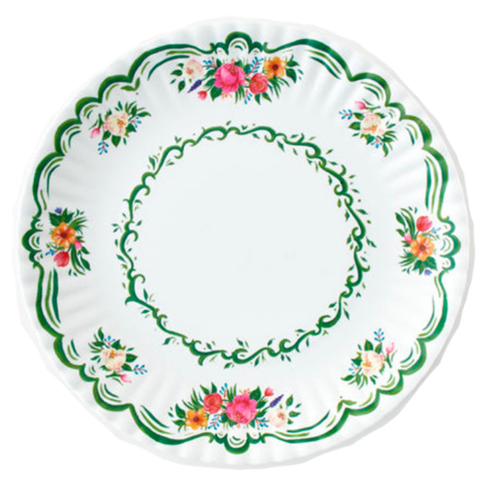 Colorful Melamine Floral Plates