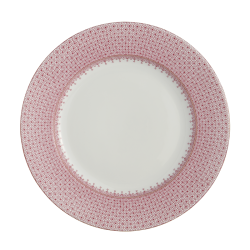 Pink Lace Dinner Plate