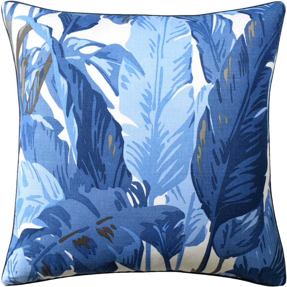 Travelers Palm Pillow - Navy