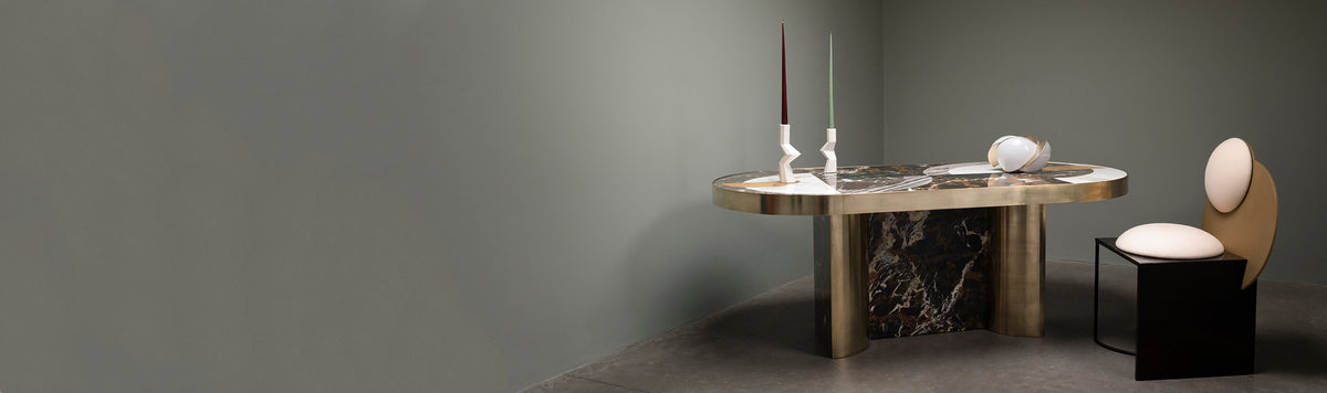 Marble and Brass Tables