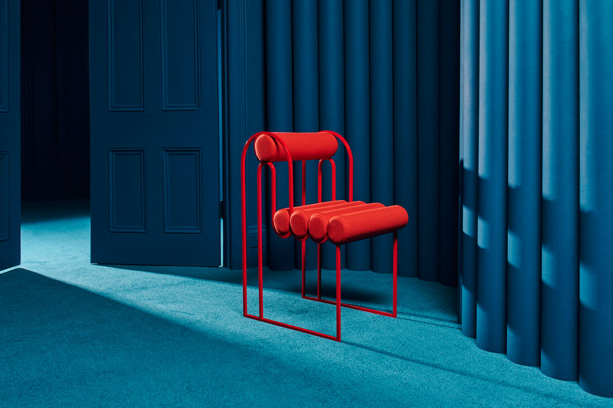 APOLLO DINING CHAIR - RED