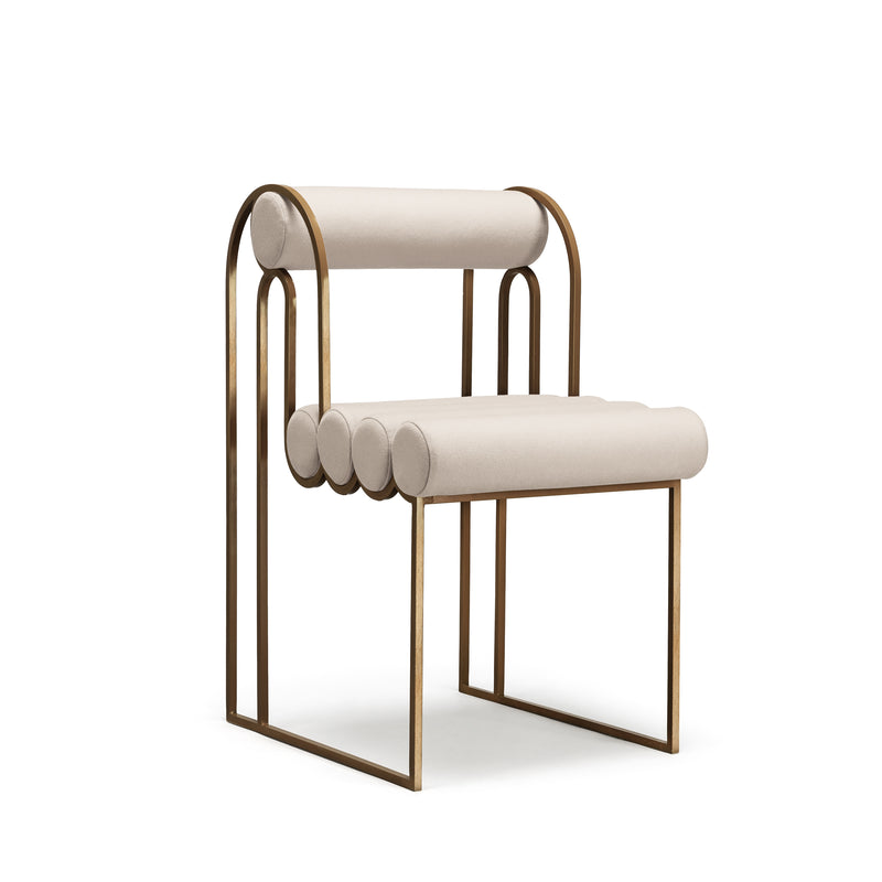 APOLLO DINING CHAIR - CREAM