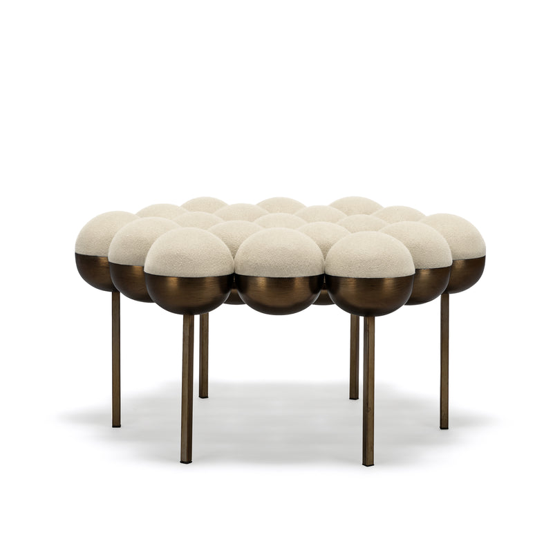 SATURN POUFFE LARGE - CREAM