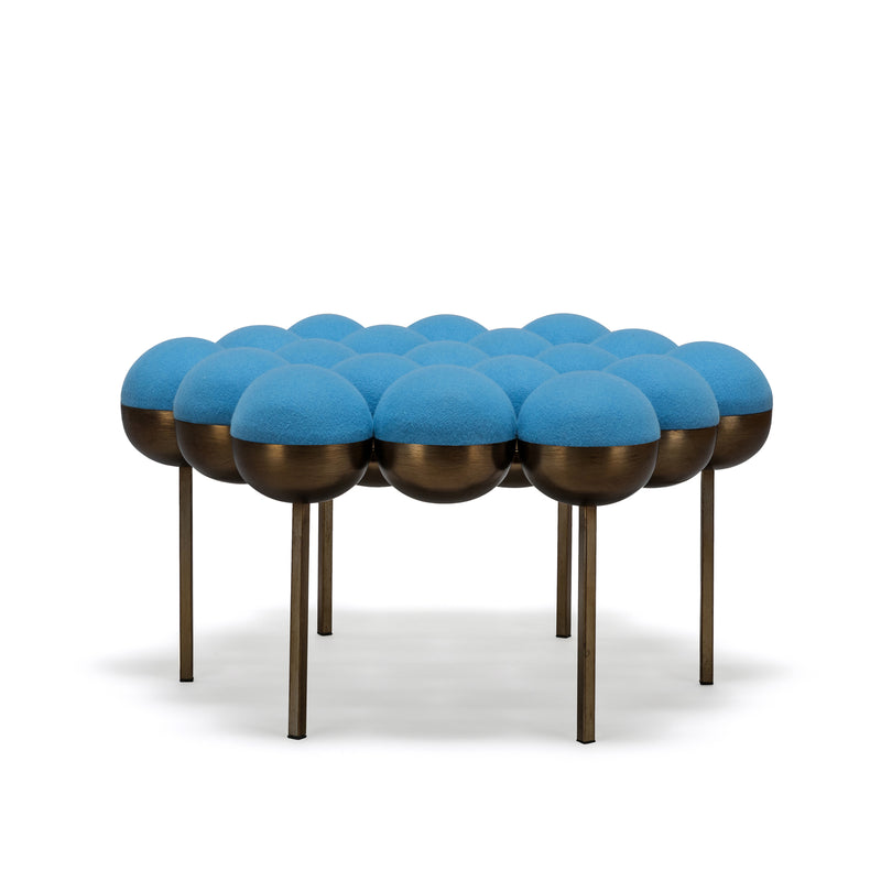 SATURN POUFFE LARGE - BLUE