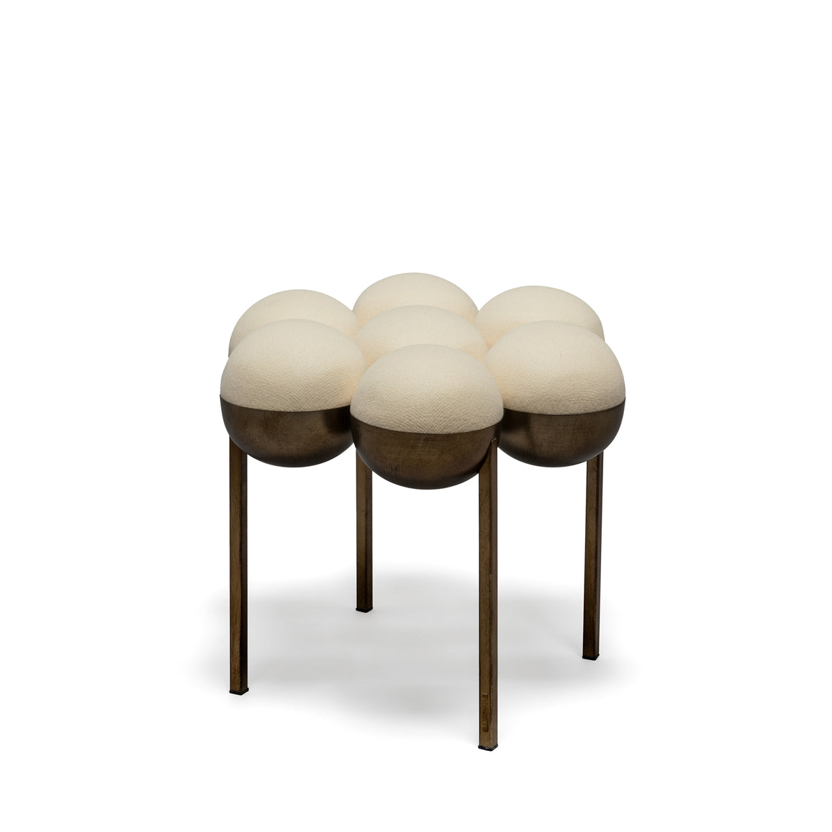 SATURN POUFFE SMALL - CREAM