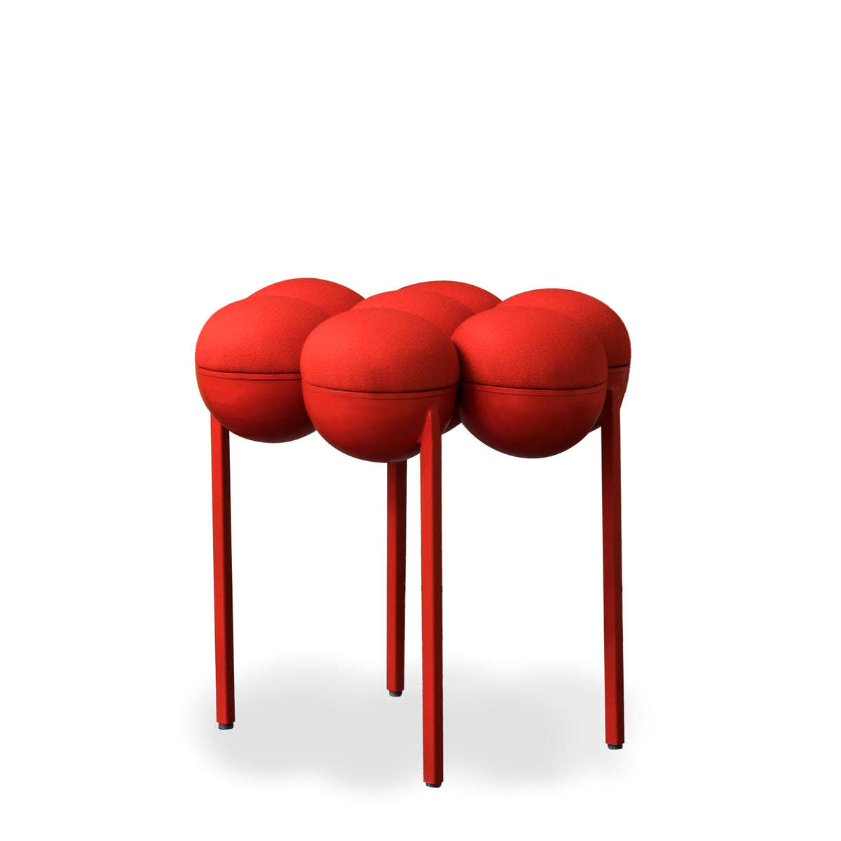 SATURN POUFFE SMALL - RED
