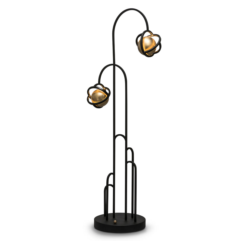 PLANETARIA FLOOR LIGHT - BLACK STEEL