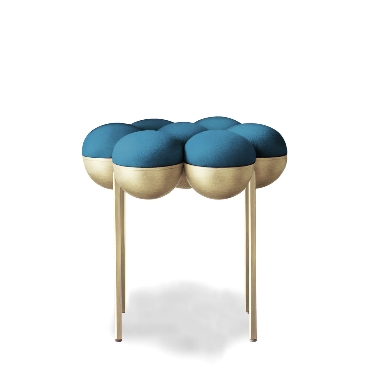 SATURN POUFFE SMALL - PETROL