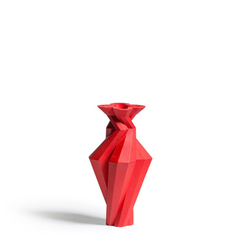FORTRESS SPIRE VASE - RED