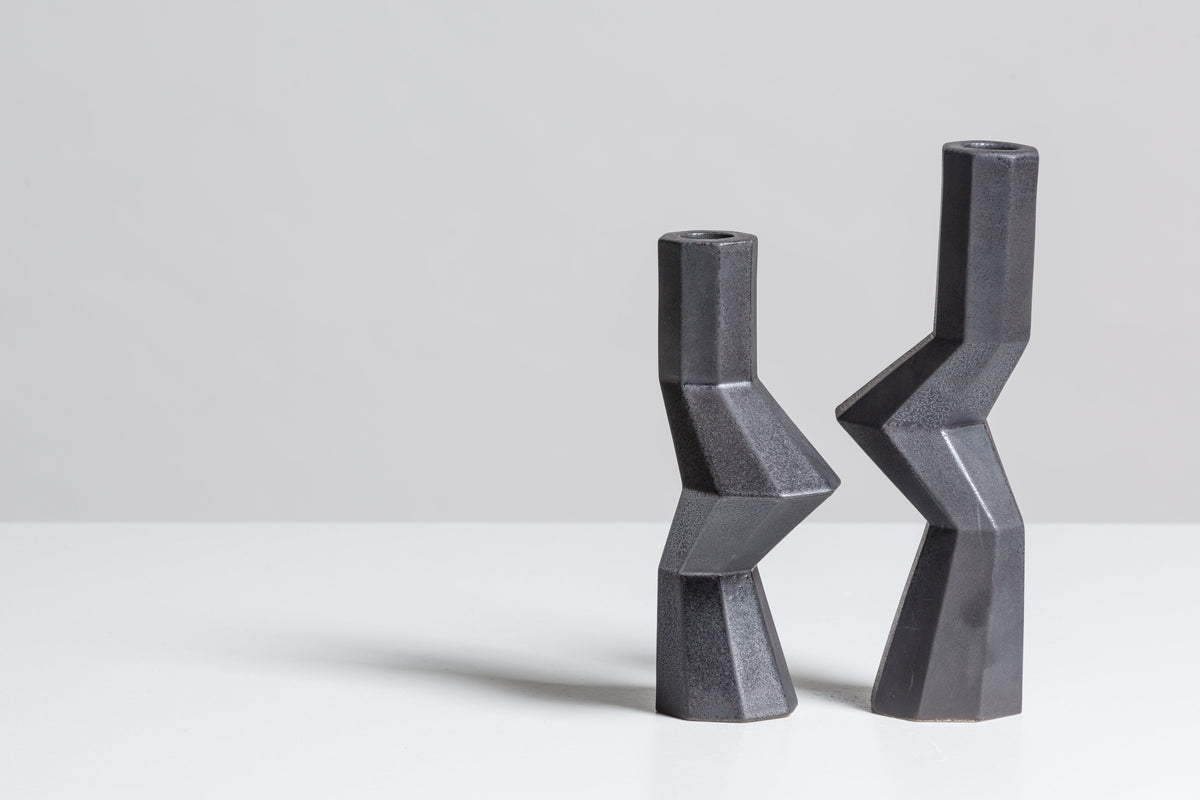 FORTRESS MILITIA CANDLE HOLDERS - IRON