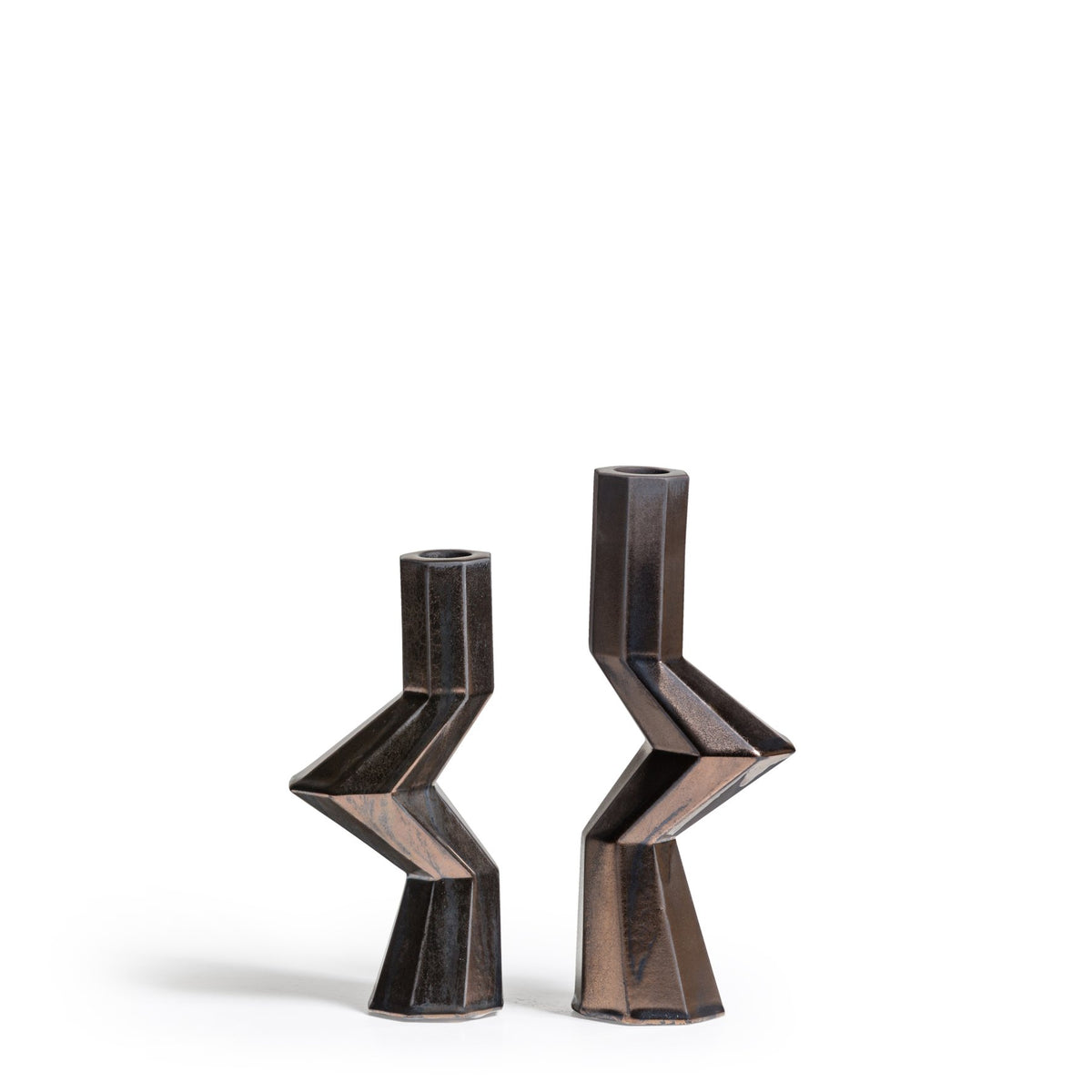 FORTRESS MILITIA CANDLE HOLDERS - BRONZE