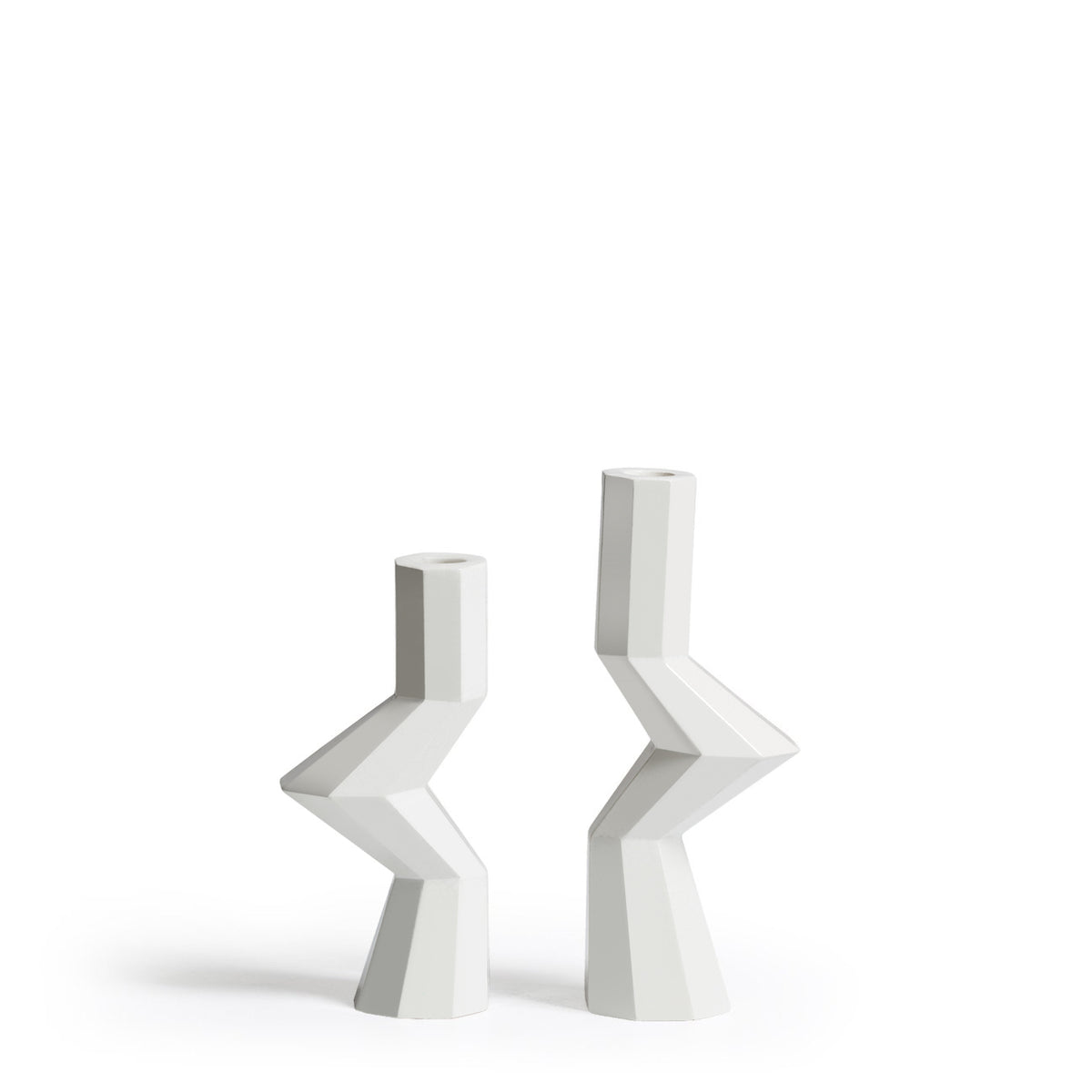 FORTRESS MILITIA CANDLE HOLDERS - WHITE