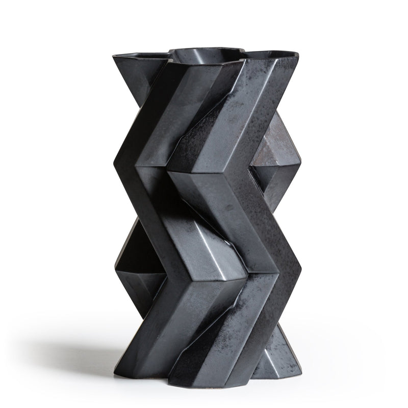 FORTRESS TOWER VASE - IRON