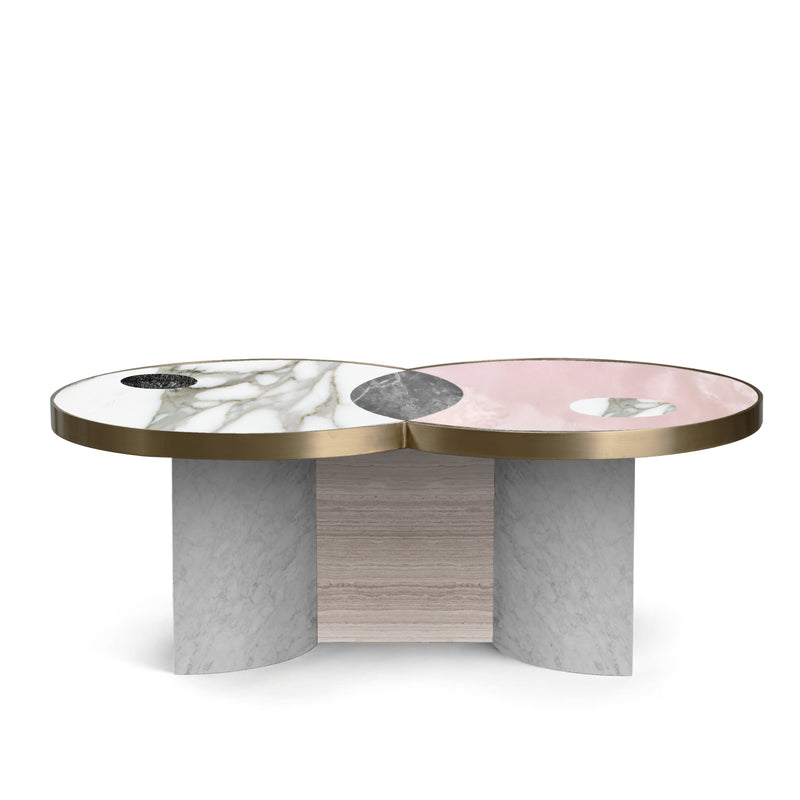 SUN AND MOON COFFEE TABLE - SNOW