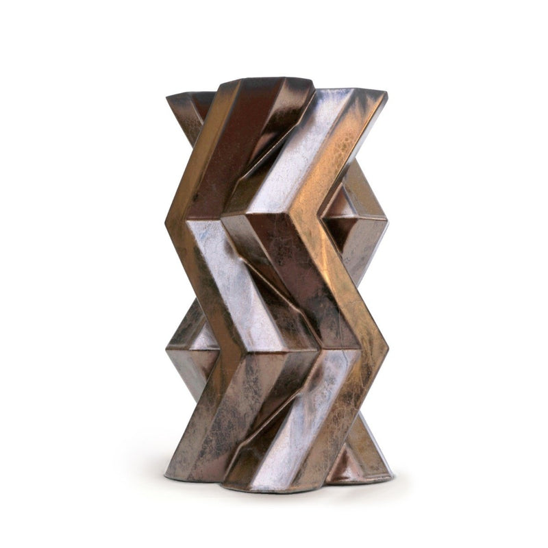 FORTRESS TOWER VASE - BRONZE