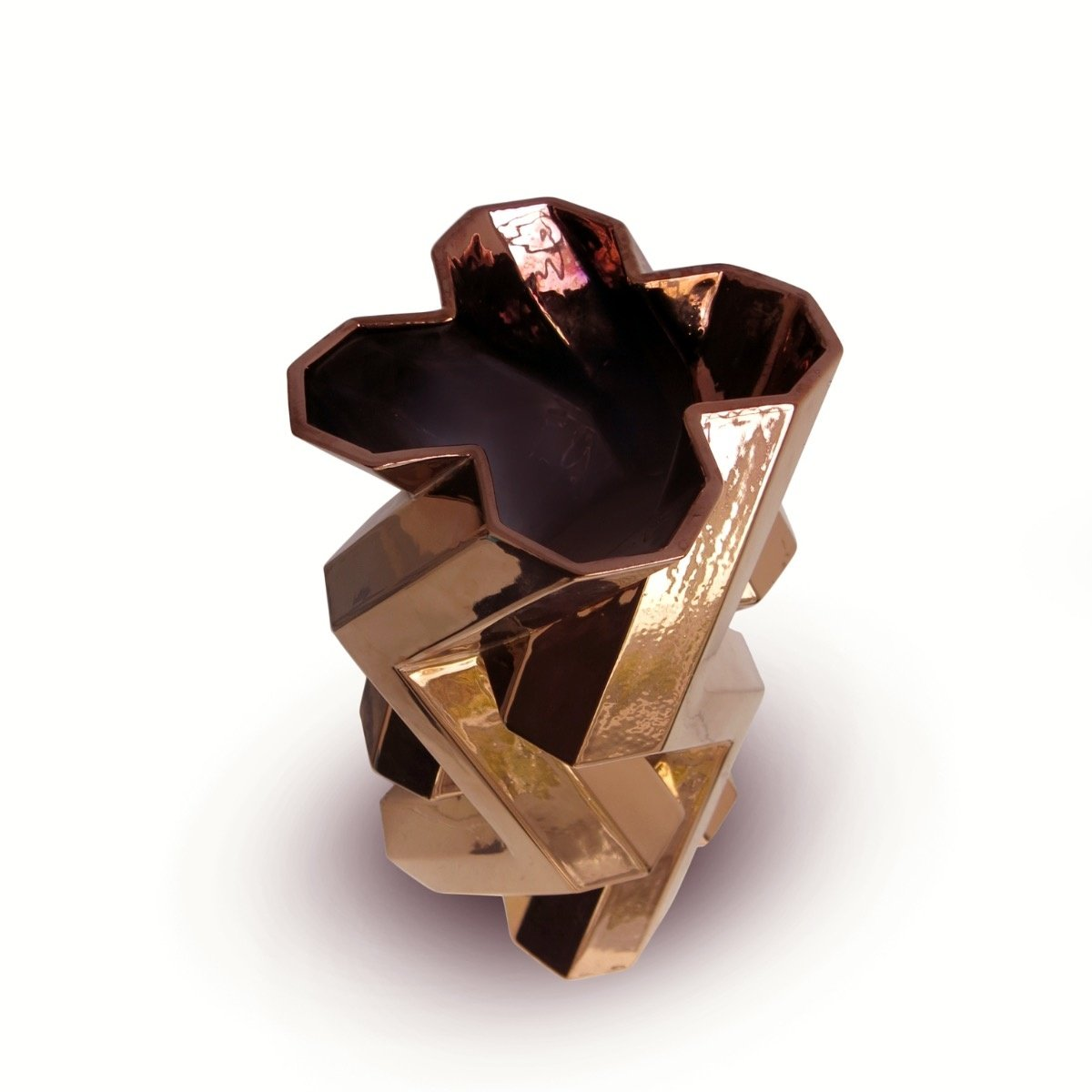 FORTRESS TOWER VASE - DARK GOLD