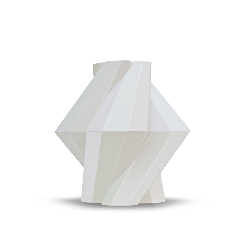 FORTRESS PILLAR VASE - WHITE