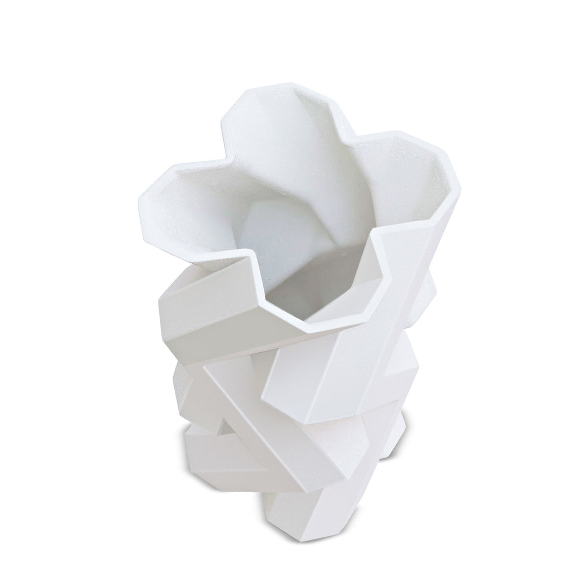 FORTRESS TOWER VASE - WHITE