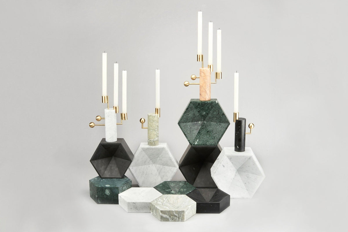 STARGAZER CANDLE HOLDER SINGLE - CARRARA