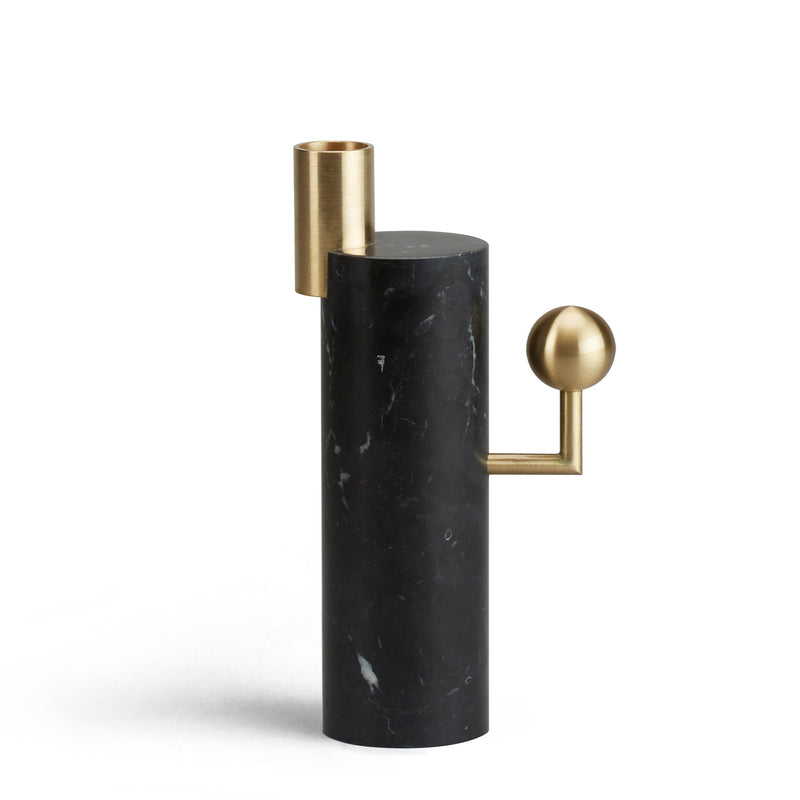 STARGAZER CANDLE HOLDER SINGLE - NERO MARQUINA