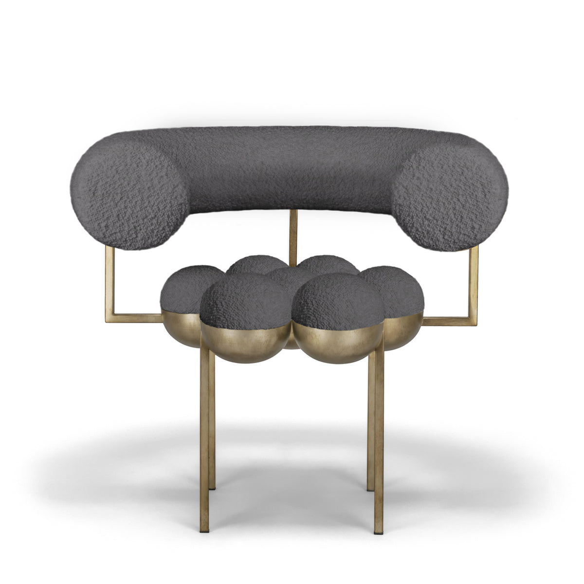 SATURN CHAIR - BRASS, ANTRACITE BOUCLE