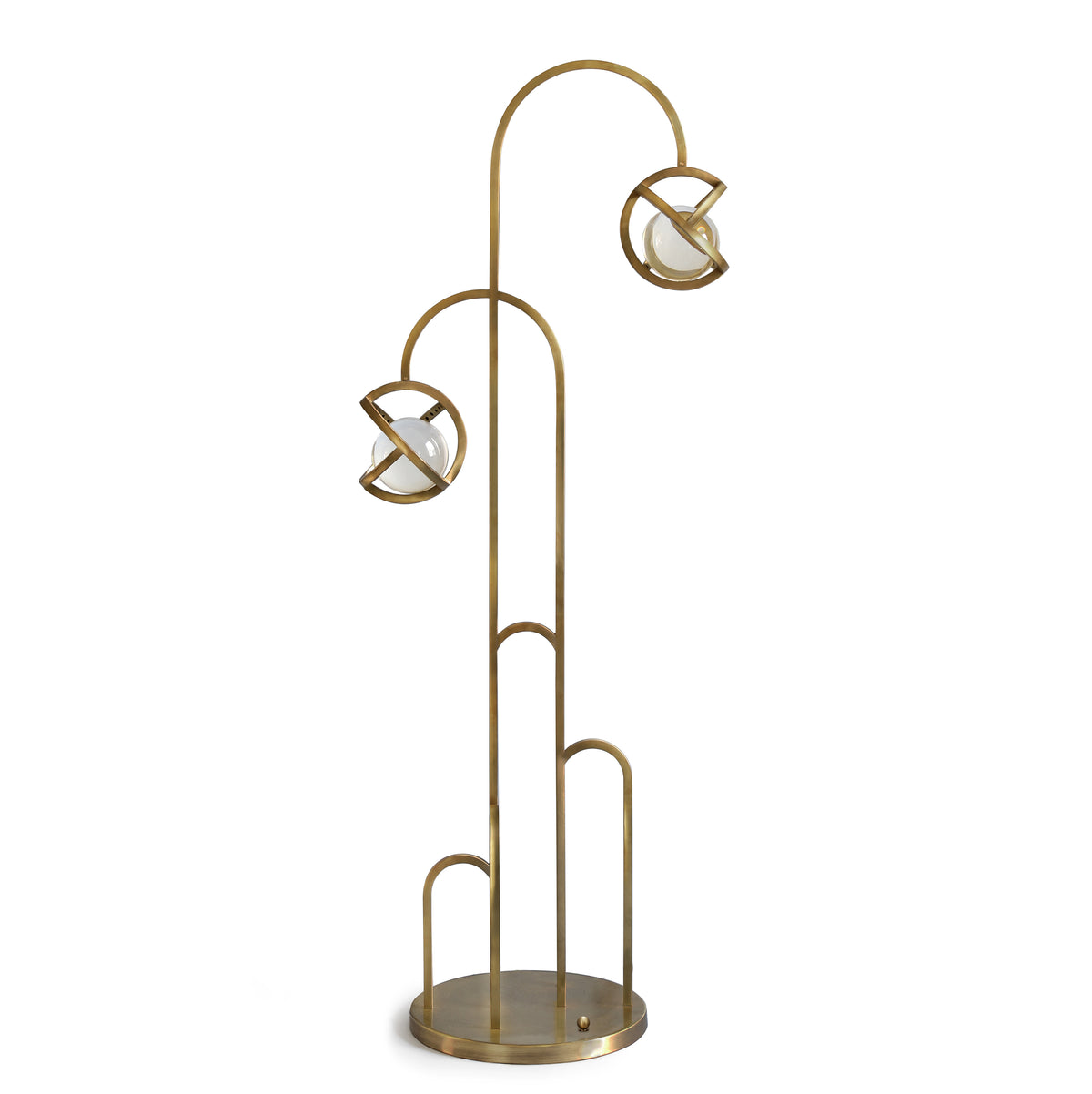 PLANETARIA FLOOR LIGHT - DARK BRASS