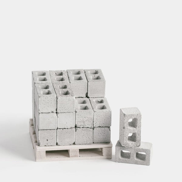Mini Materials 1:12 Scale Pallet of Mini Cinder Blocks