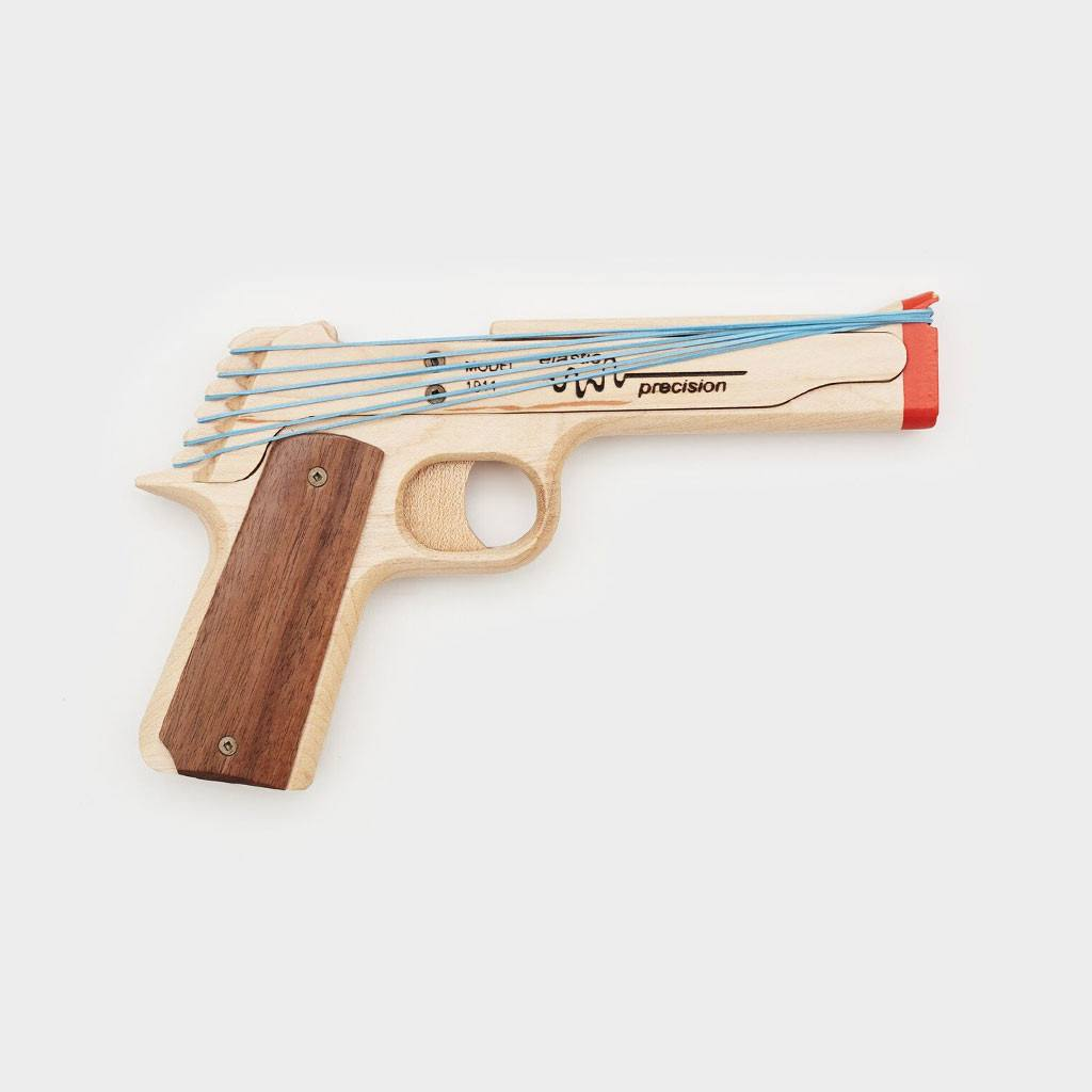 The 1911 Rubber Band Gun - Cool Material