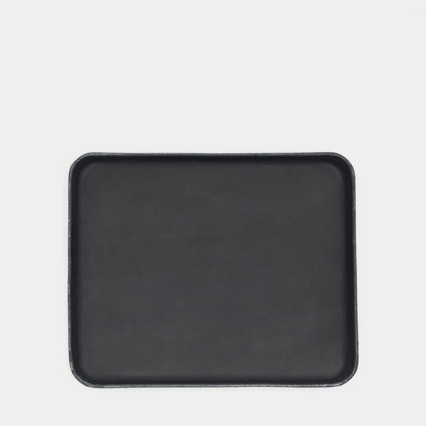 Black Vegetable Tanned Leather Valet