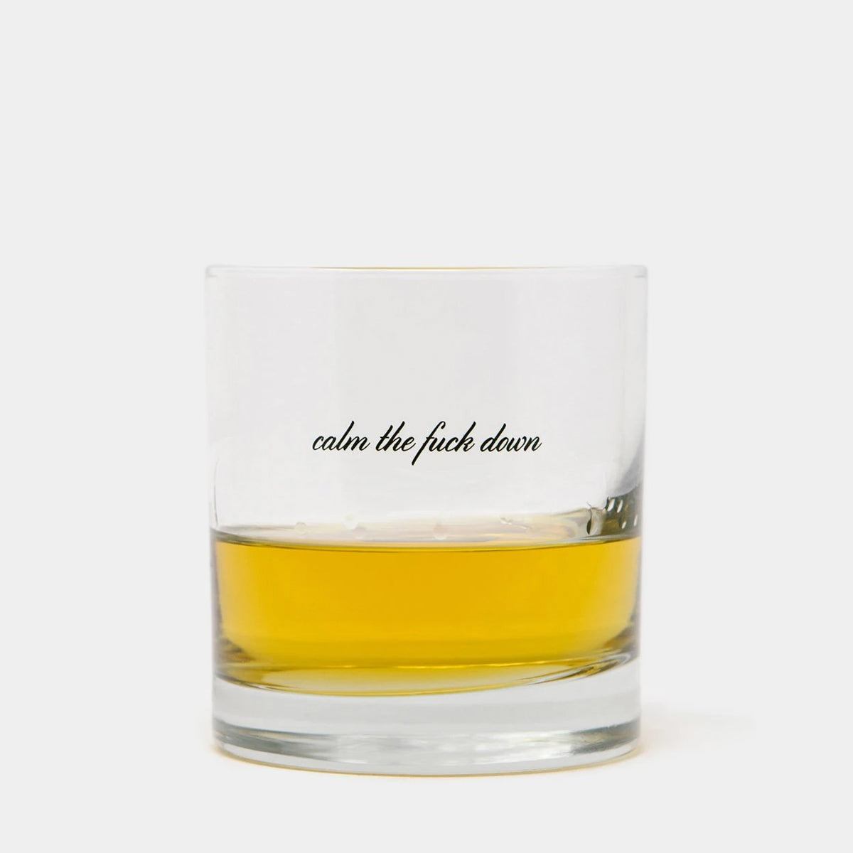 Calm Down Whiskey Glass 2 Pack