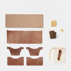 DIY 5 Pocket Bifold Wallet Kit Horween - <span class='Widget_Products-get_products-price'>$28.00</span>