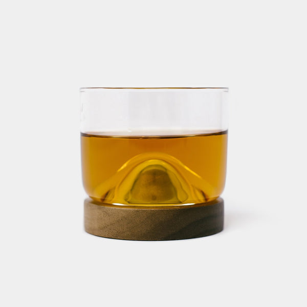 Cool Material Whiskey Glass with Wooden Base