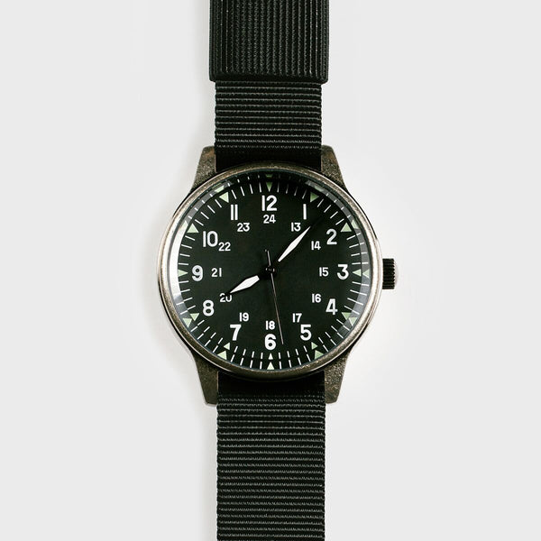 MWC MWC Classic Retro Military Watch 12/24 hour dial